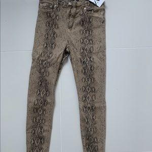 Zara faux snakeskin jeans